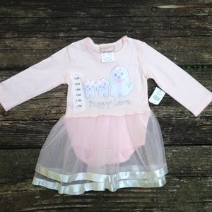 "Love Being Me ""Puppy Love"" Pink Tulle Dress 12 M"